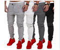 New Designer Mens Herostand Harem Joggers Sweatpants Elastic Cuff Drop Crotch Drawstring Biker Joggers Pants Men maroon 4505