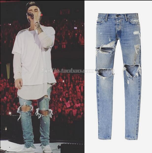 Men Destroyed Jeans