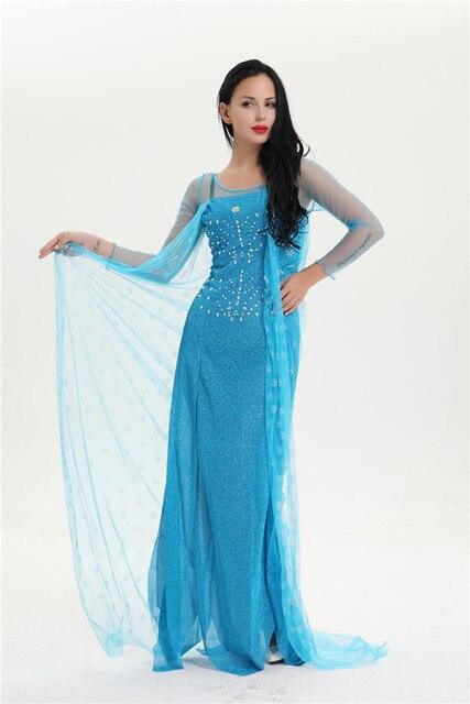 74cf53444253a FROZE Princess Anna Elsa Queen Girls Cosplay Costume Party Formal Dress Sc  1 St AliExpress.com