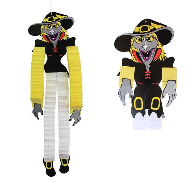 Engraçado Zombie Vampiro Crânio Pendurado Bruxa Vampiro Aranha Decoração De Papel Festa de Halloween Decoração Suprimentos