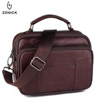 ZZNICK 2017 Genuine Leather Bag Men Crossbody Bags Fashion Men S Messenger Leather Shoulder Bags Handbags