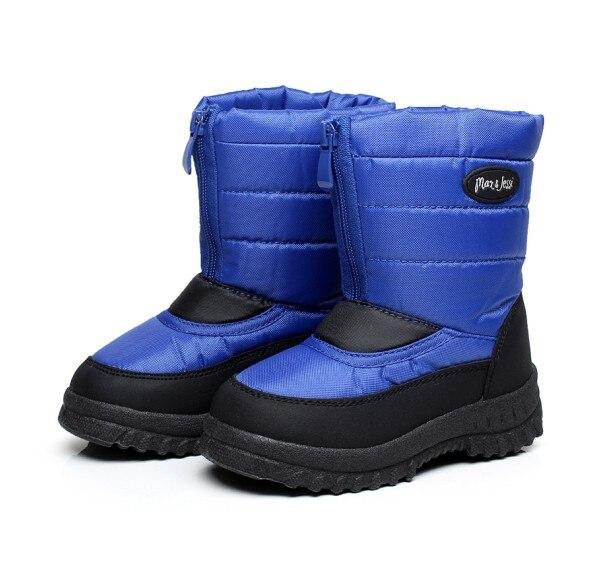 Дитяче взуття Чоловічий дитячий сніг чоботи з вовни Tthermal стійкі проти ковзання водонепроникний хлопчик чоботи мода діти взуття в зимовий період