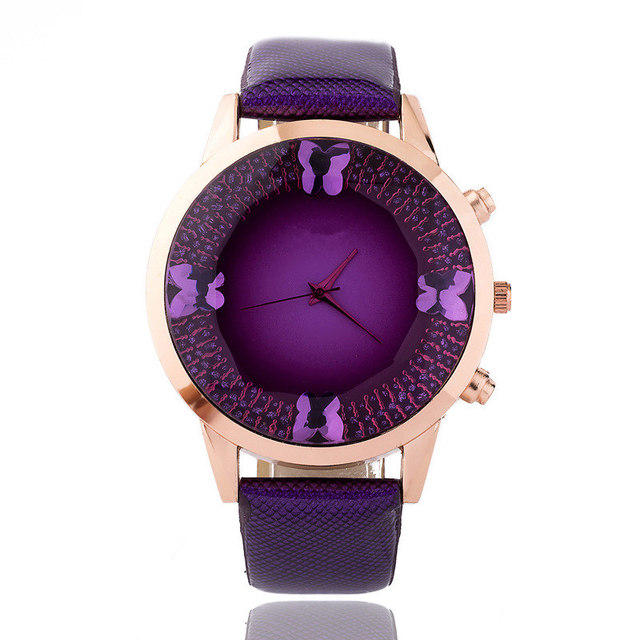 Top Brand Luxury Fashion Butterfly Watch Women Quartz Watch Lady Dress Watch Women Leather Wristwatch Relogio Feminino Clock
