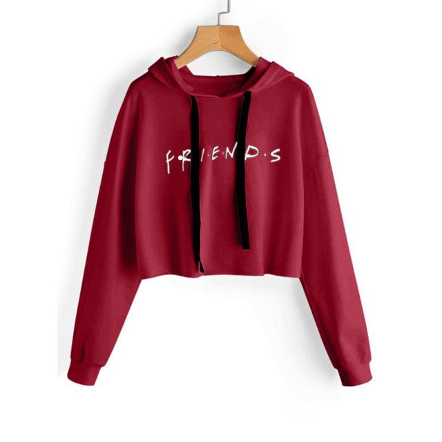 FRIENDS CROP TOP HOODIE (4 VARIAN)
