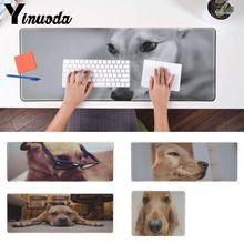 Alfombrilla de ratón de goma para portátil Yinuoda Vintage con ojos de perro divertido Gaming Player
