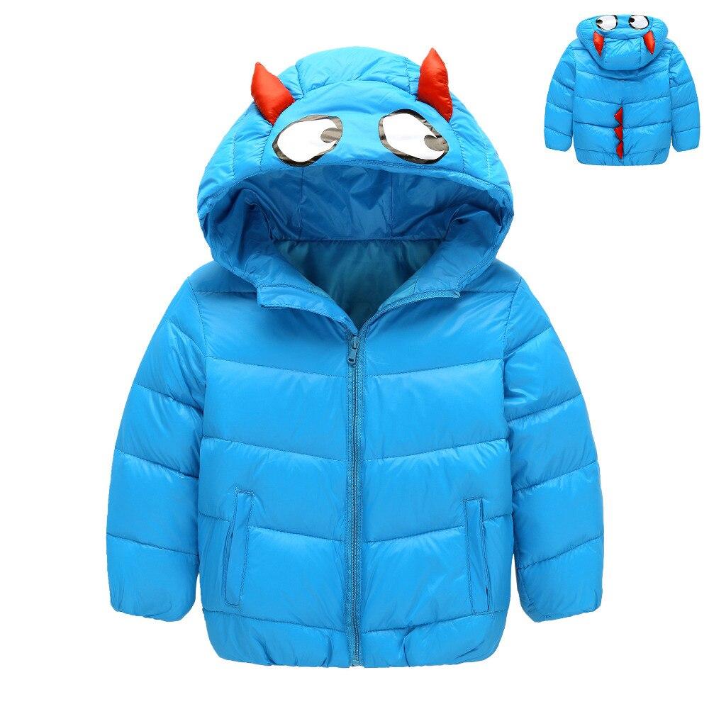Cartoon Hooded Light Boys Down Jacket Solid Color Zipper White Duck Parkas Long Sleeve Winter Warm Short Children Coats