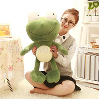 70cm new style big eyes frog plush toys baby pillow green frog cloth doll birthday gift for Children drop shipping