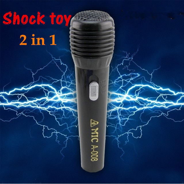 Microphone Light 2in 1Electric Shock Toys Joke Goods ...