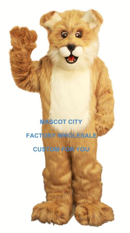 Costume de Mascotte de chien Fido brun clair long taille adulte personnage de bande dessinée tenue de Mascotte Costume de déguisement fête SW684