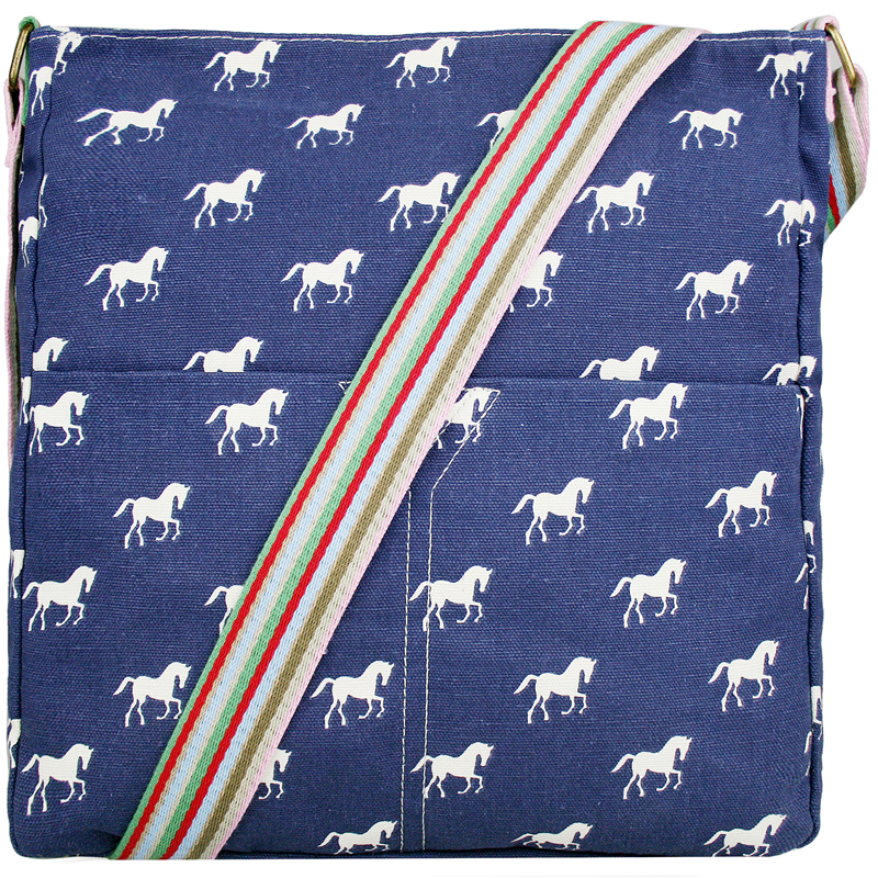 2016 Ladies girl horse print shoulder bag A4 notebook messenger bags canvas bags satchel school bags 5 kinds of color