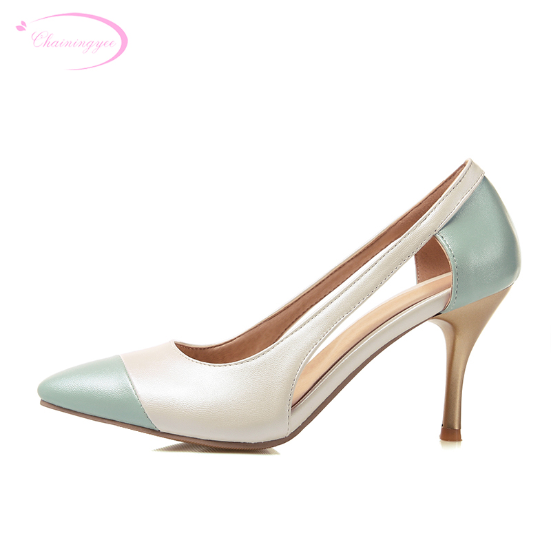 Chainingyee party sweet sexy pointed toe summer sandals color matching white pink purple blue high-heeled women shoes big size ladies 1 7 sexy pointed toe back strap western mixed color high heel sandals shoes women big size shoes 4 14 pink blue white