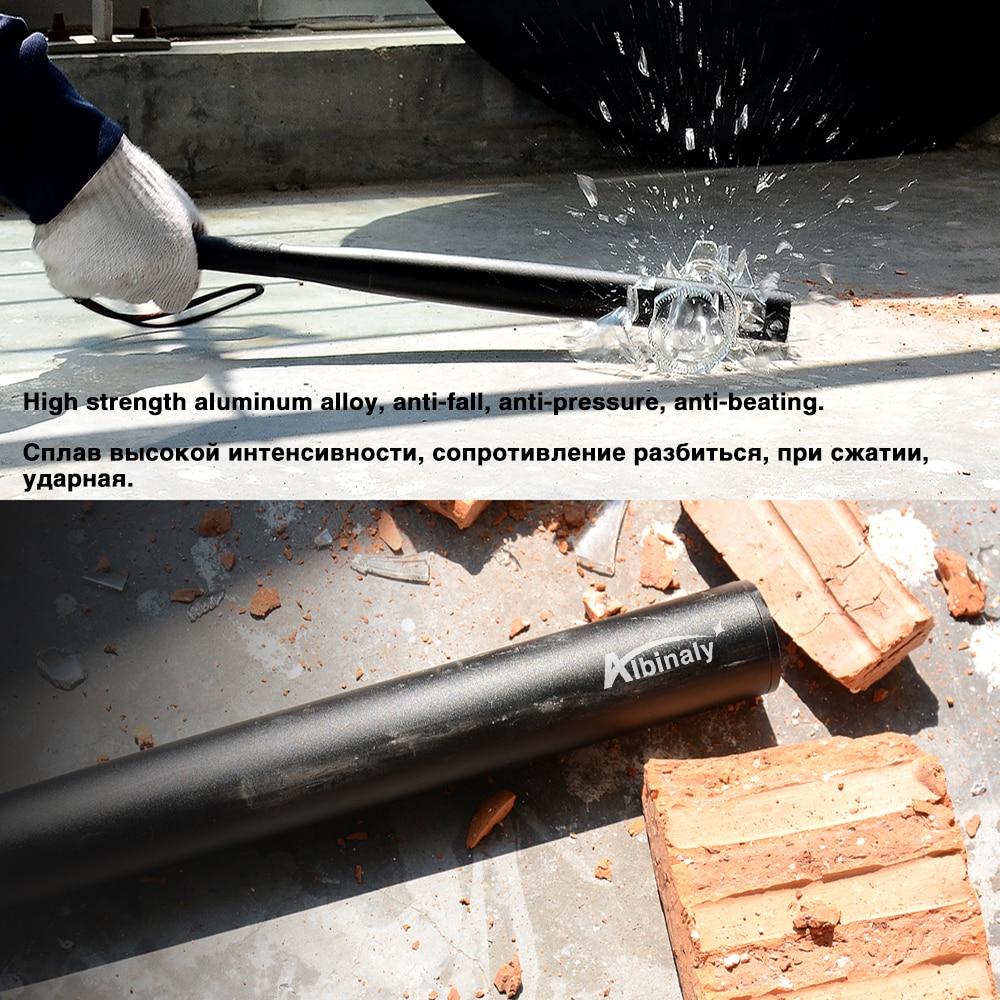 38cm Aluminium Alloy Baseball Bat LED Electric Torch Emergency 3 Modes HL