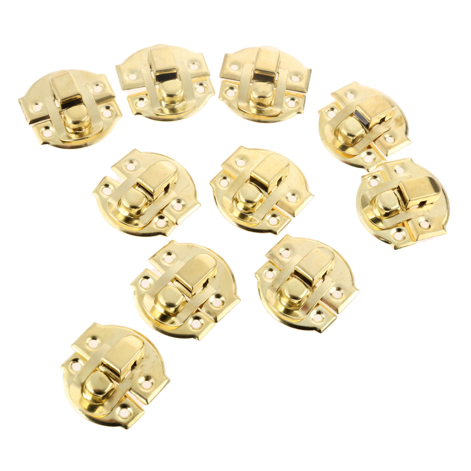 10Pcs Antique Gold Box Hasps Iron Lock Catch Latches for Jewelry Chest Box Suitcase Buckle Clip Clasp Vintage Hardware 27*29mm metal hasps john lone butterfly lock nasal air box lock cold rolled steel fastener box clasp lock catch hardware