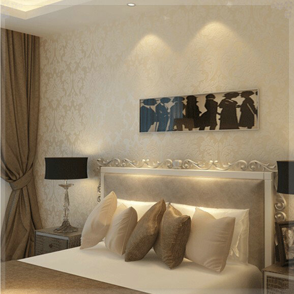 Non Woven Metallic Wallpaper Modern Background Wall Wallpaper .