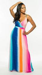 Kobieta Sukienka 2018 wiosna lato formalne Sukienka w stylu Vintage afryki sukienki dla kobiet Plus rozmiar sexy rainbow Tute esthetic Donna Sukienka 4