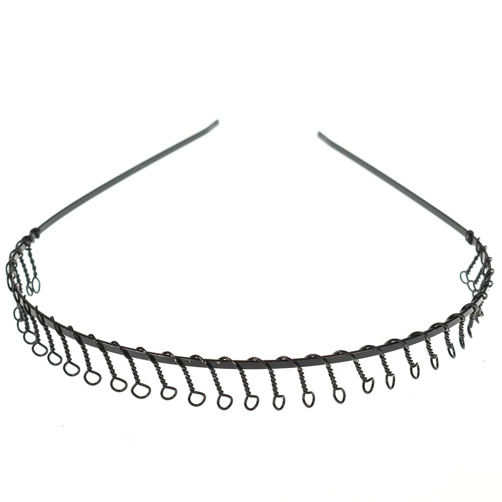 1PC Men's Hair Clip Metal Wire Teeth Hair Band Easy Black Sports Headband Unisex Hair Styling Clips Assessaries