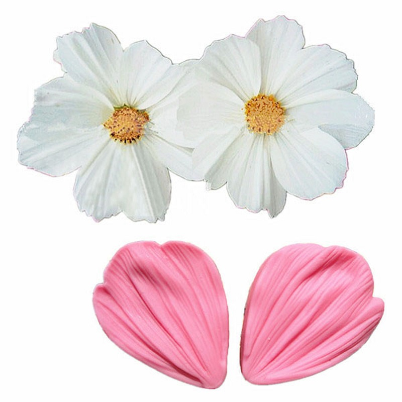 Rose Flower Silicone Push Mold Candy Food Safe Silicone #620 Cake Soap Fondant