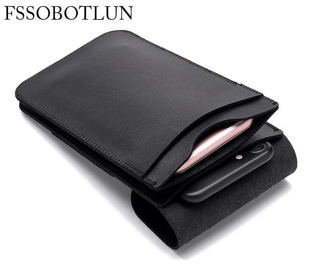 Dual Mobile Phone Leather Bag Sleeve Hanging Waist Pouch Case For BLU Studio G HD LTE,Pure XR,Studio M LTE,Diamond M,Studio M HD