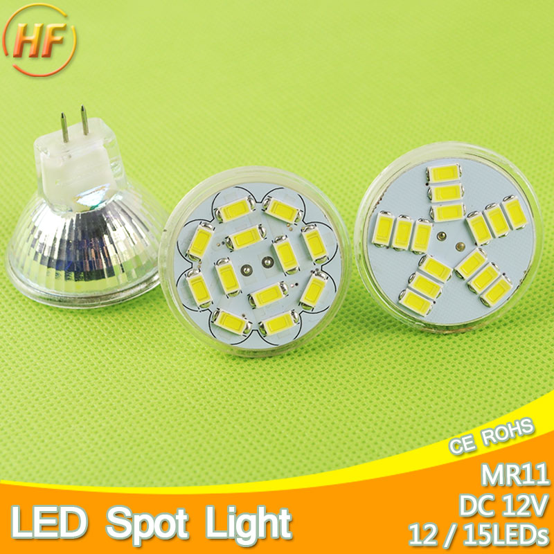 MR11 Led Spotlight DC 12V 3W 5W 5730 SMD LED Bulb Energy Saving Lamp Led Spot Light Bulb DC12v Cool White/Warm White Bombilla 680lm mr16 7w cob warm white led spot bulb energy saving light 85 265v