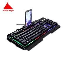 Replace Keyboard Gold  104 Keys Metal Led Light Gaming Gamer Game Usb Multimedia  Waterproof For Computer PC Desktop Keyboard