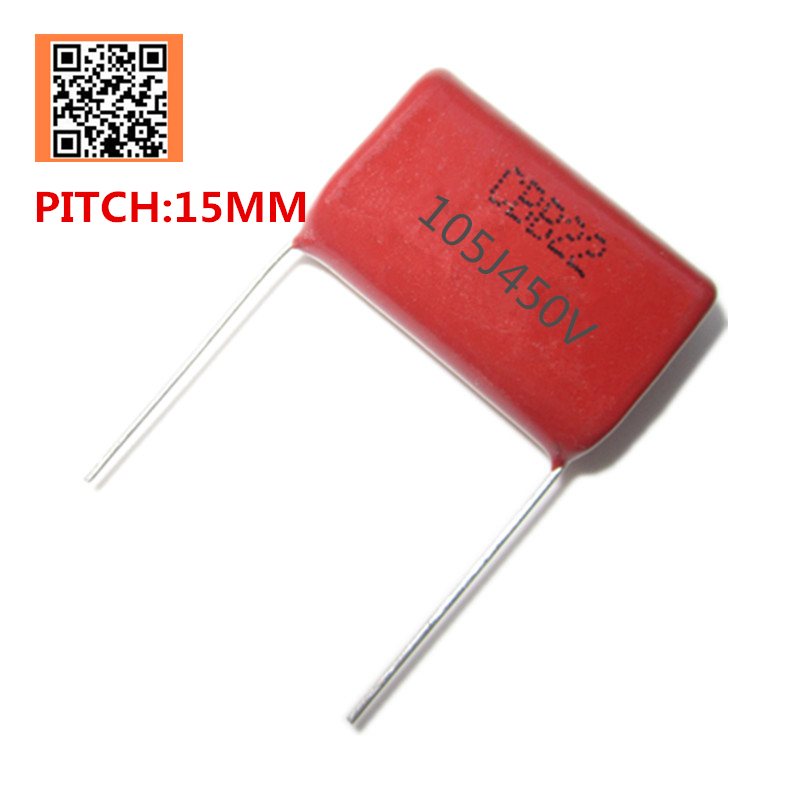 10pcs 450V 1UF 1000NF 105J PITCH 15MM <font><b>2.2UF</b></font> 2200NF 225J PITCH 20MM 450V Pitch 10mm 5% DIP CBB Polypropylene film <font><b>capacitor</b></font> image