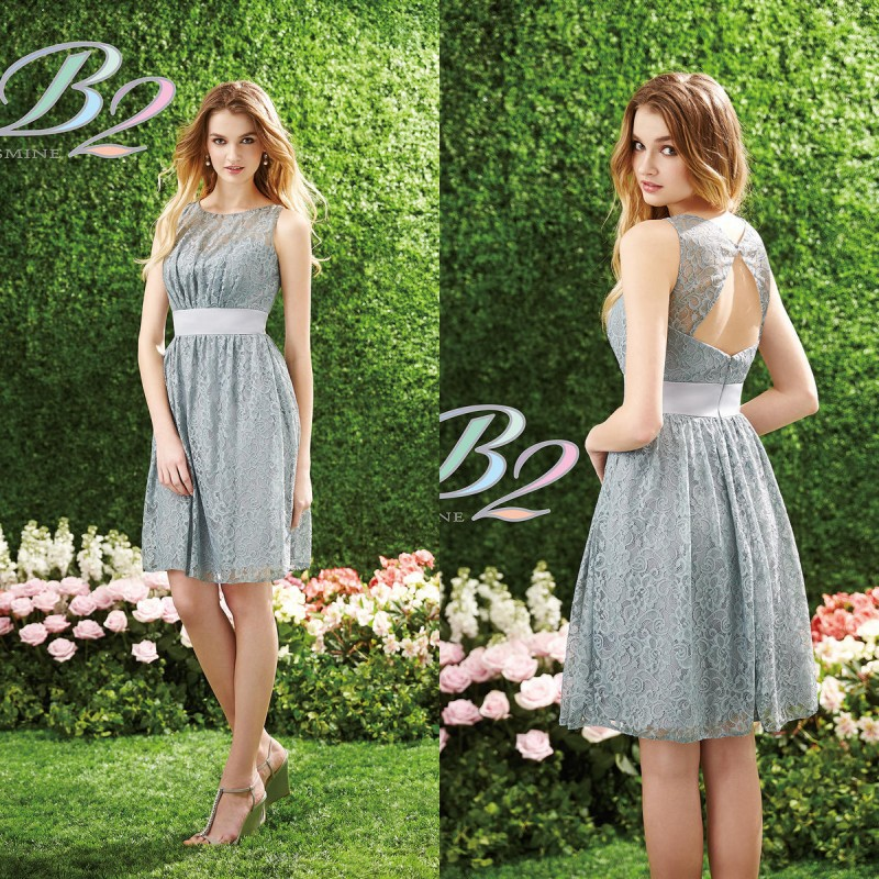 Buy 2015 short silver bridesmaid dress b2 for Grey dress wedding guest