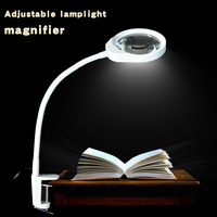 Magnifying Glass LED Light 10X Magnifier Repair Tools, Magnifiers Loupe Desktop Magnifier light