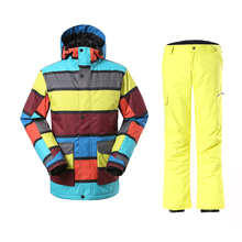 2016New Winter Snowboarding men's Windproof Waterproof Ski Jackets+Warm Pants mens Breathable Windproof skiing jackets Clothes 2016new skiing sets jackets women ski suits jackets snowboard clothing jaqueta feminina inverno ski jacket waterproof breathable