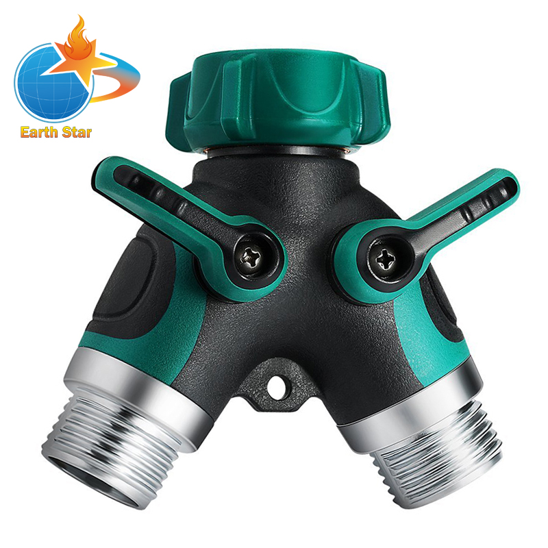Earth Star Garden Water Hose Splitter Connector Valve Faucet To Hose Connector 2 Way earth 2 society vol 4 life after death