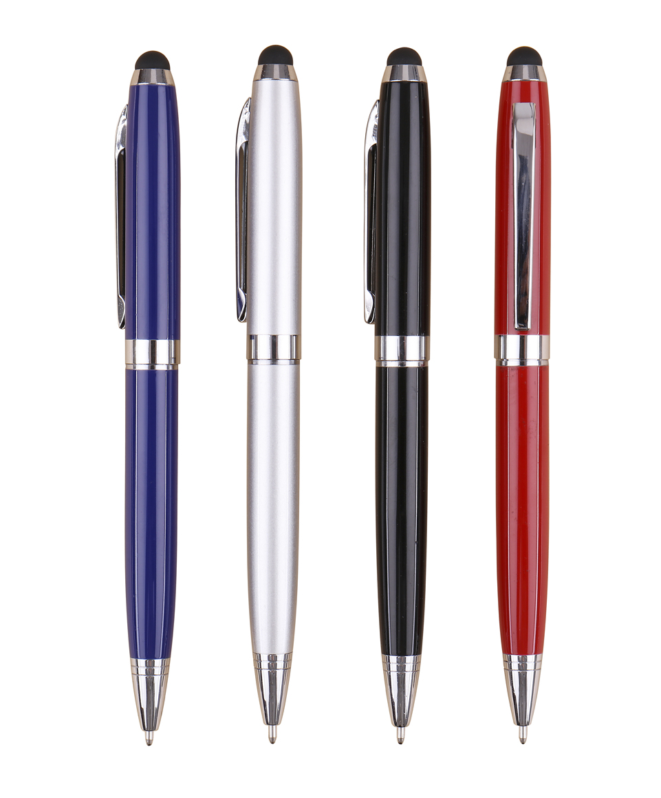 US $208 8 |[free engraving logo]100pcs/lot print with custom logo, company  promo advertising stylus twist ball pens with smooth writing-in Banner Pens