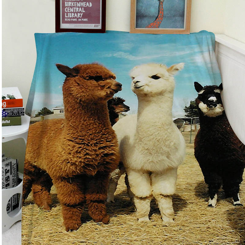 Blankets Comfort Warmth Soft Cozy Air conditioning Easy Care Machine Wash Funny Fashion intimate llama