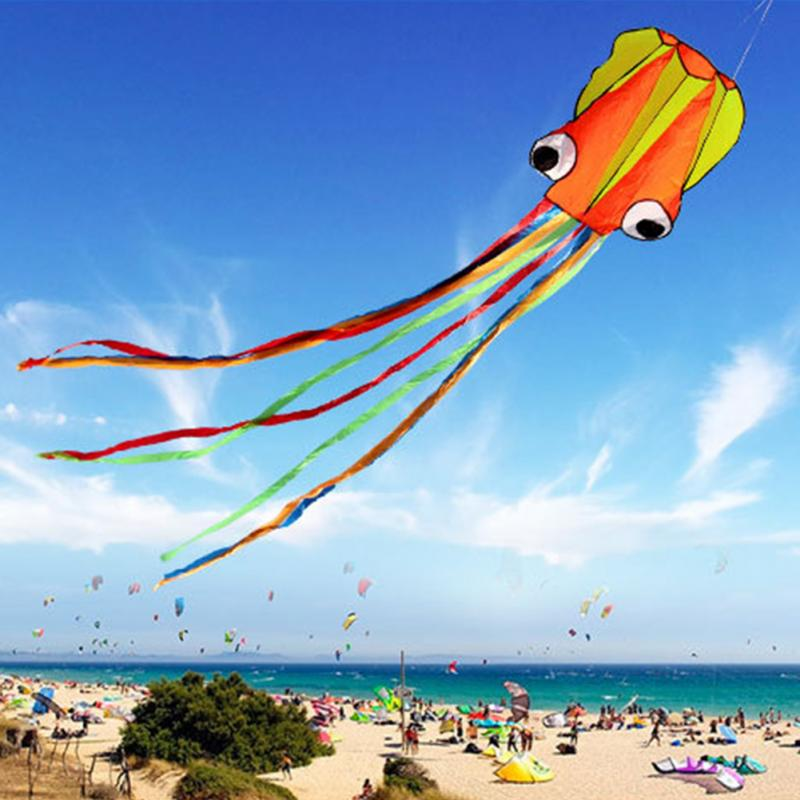 3D 4M Octopus Kite Single Line Stunt /Software Power Sport Flying Soft Kite Outdoor Easy To Fly Kids Fun Toys Gifts