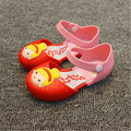 2017 verano de la muchacha linda sandalias jelly shoes princesa print shoes shoes impermeables antideslizantes transpirable niños lucha color