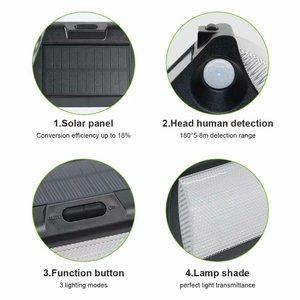 Image 5 - Solar Light Outdoor Dual PIR Motion Sensor Solar Powered Lamp 180 Degree Sensor Wall Lamp RGBW LED Waterproof Garden Solar Light