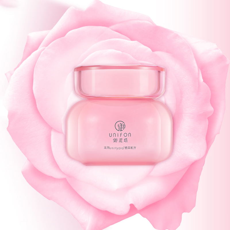 Unifon Rose Sleeping Facial Mask Wash Free Hydrating Moisturizing Nighttime