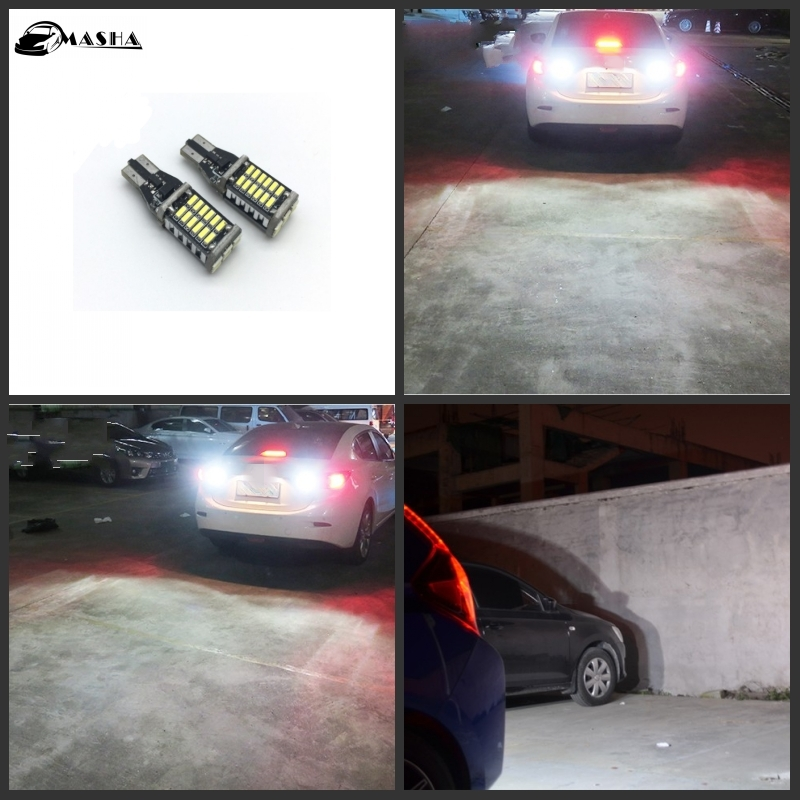 2x FOR VW Passat B7 Canbus no error backup reverse light lamp T15 W16W LED 3535 Chip High Power error free t20 socket 360 degrees projector lens led backup reverse light r5 chips replacement bulb for subaru outback