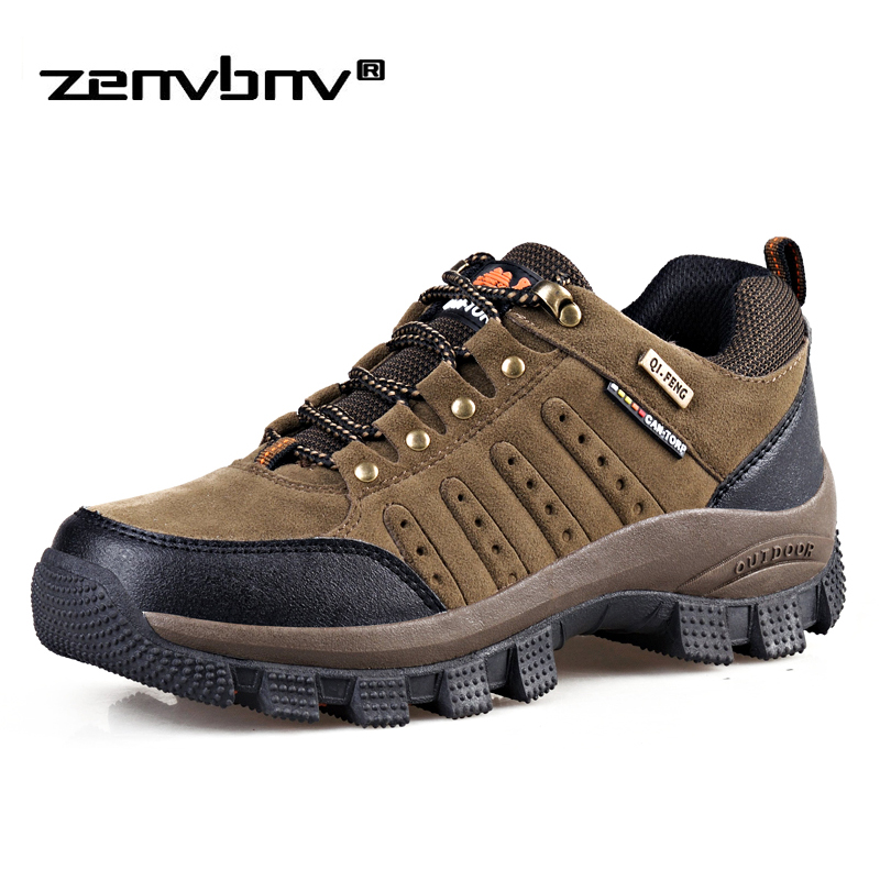 Autumn/Winter Outdoor Men Shoes Plu Size 36-47 Comfort Suede Casual Shoes Men Fashion Breathable Flats For Men Mountain Sneakers