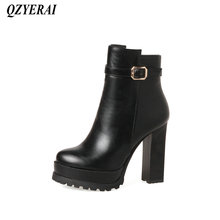 QZYERAI Winter fashionable lady short boots patent leather womens shoes womens boots