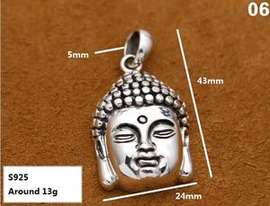 Image 5 - Handcrafted 925 Silver Buddha Pendant Necklace 925 sterling Tibetan Buddha Head Amulet Pendant Good Luck Buddha Statue Amulet