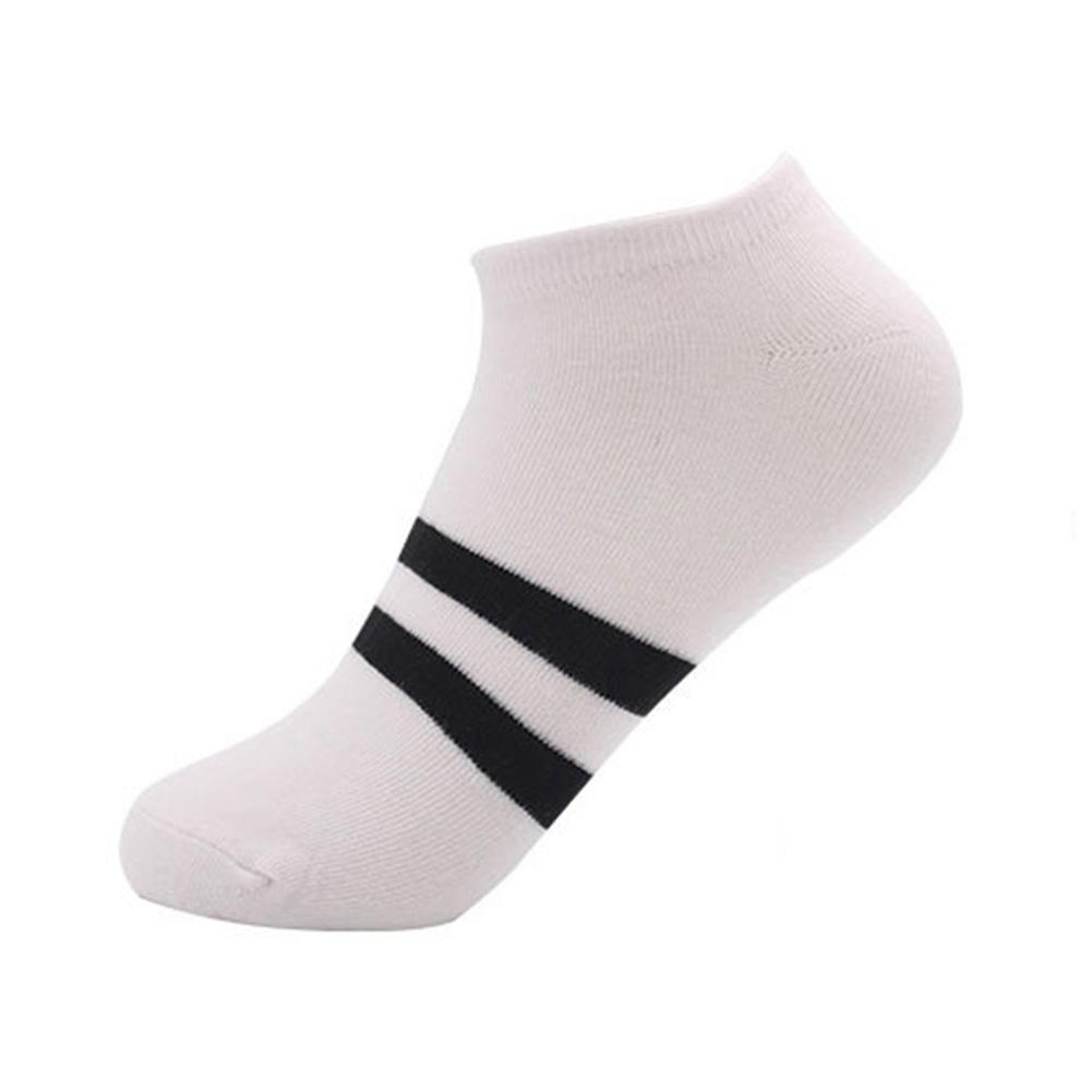 1 Pair Mens Socks Calcetines Unisex Casual Breathable Stripe Socks Cotton Compression Socks Slippers Short Ankle meias
