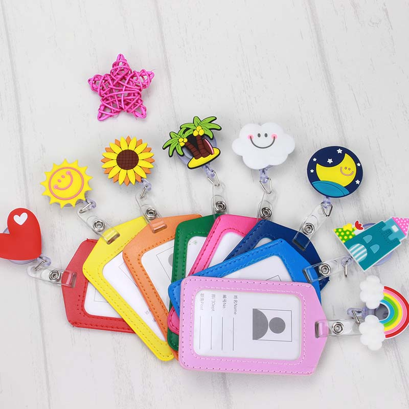 2018 New  Lovely  Nurse Retractable Badge Reel with Vertical Card Pull ID Card  Badge Holder Belt Clip Hospital School Office