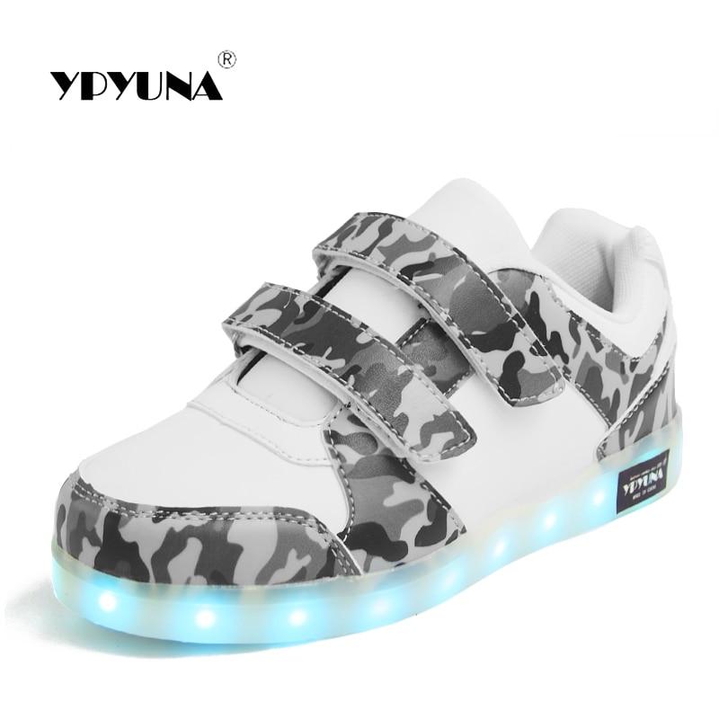 Eur25-37 // USB Basket Led Children Lighting Shoes With Light Up for Girls Luminous Sneakers Glowing Shoe enfant Boy Kids 1167