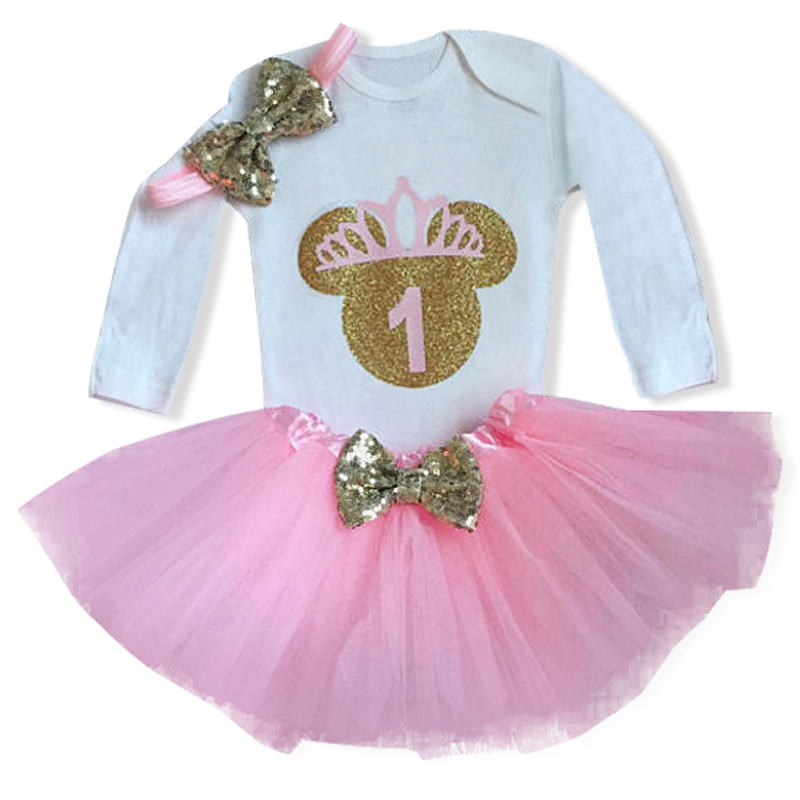 1st Birthday Dress Outfits Infant Baby Girl 1 Year Bebes Wear Princess Girls Kids Clothes Tutu Toddlers Girl Boutique Clothing