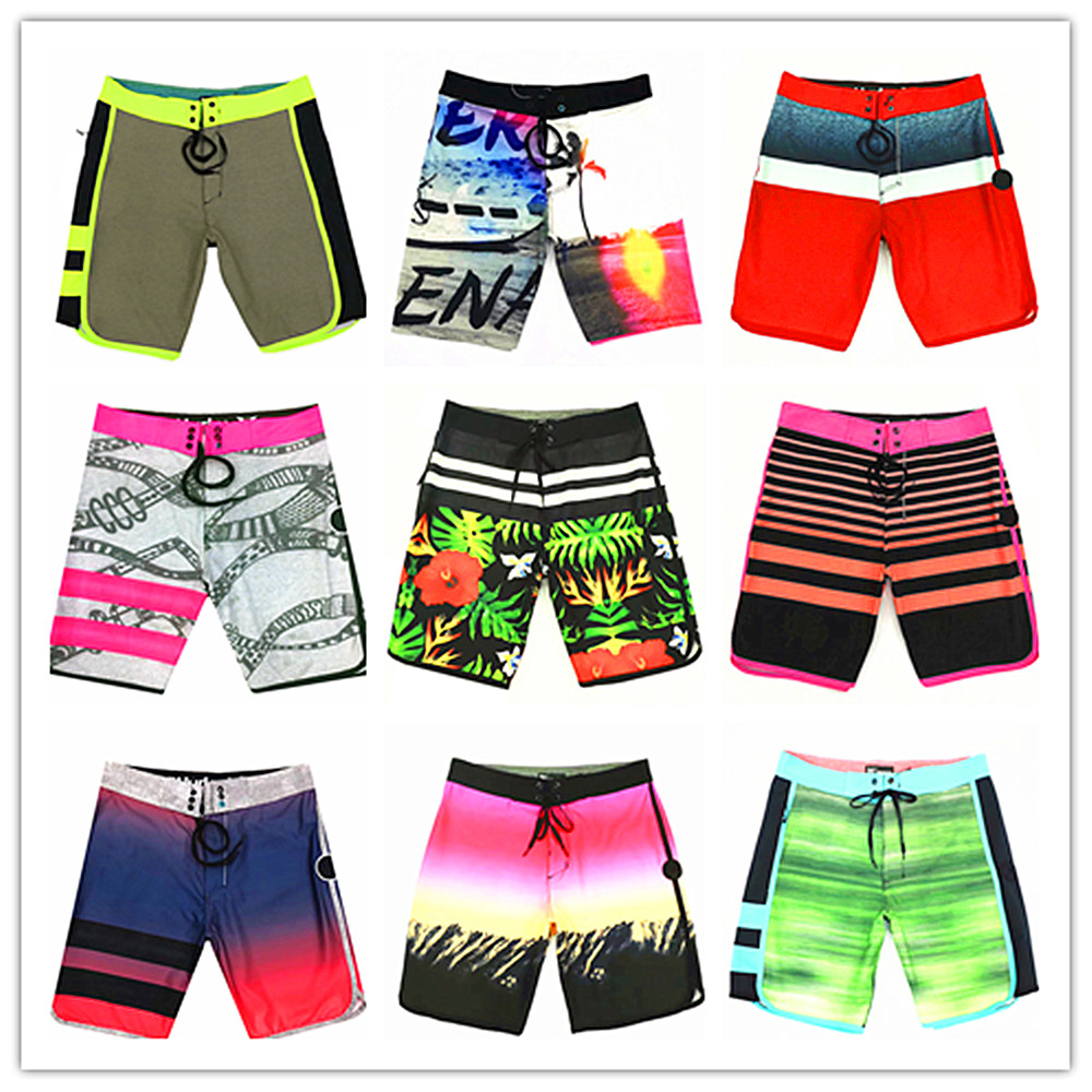 2019 Brand Phantom   Board     Shorts   Men Elastic Beach   Shorts   100% Quick Dry Men's Swimwear Sexy Bermuda Spandex Swimsuit Size:28-36