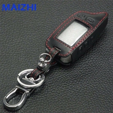 5 Buttons Leather Car Key Chain Key Cover Bag For Tomahawk TW9010 TW-9030 TW-9020 Remote Control Keychain,TW 9010 9030 9020
