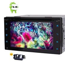Car Stereo Android 6.0 2Din DVD Player Support GPS Navigation Steering Wheel Control OBD2 Bluetooth 3G/4G WIFI+Free Rear Camera