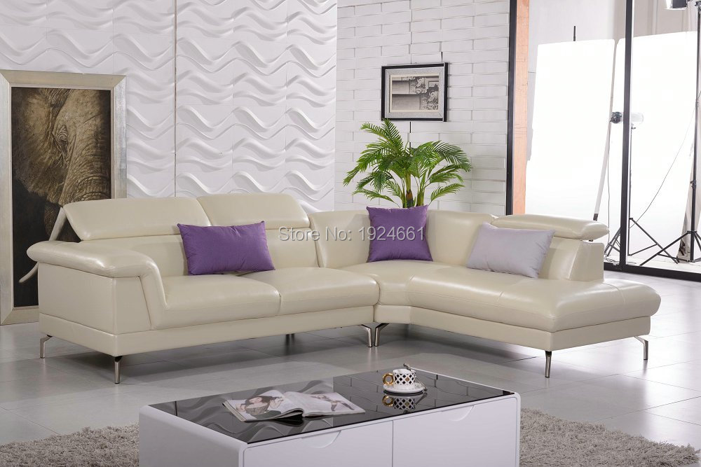 Chaise Sectional Sofa Chair Real European Style Living Room Sofas