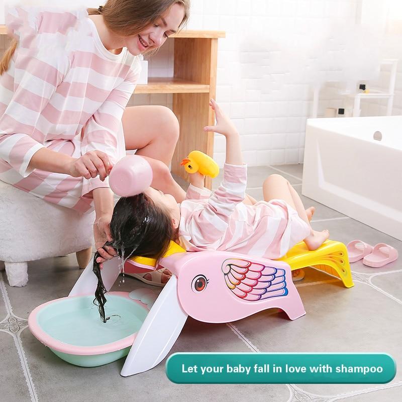 Pliable maison bébé shampooing artefact fille enfant shampooing lit enfants shampooing inclinable