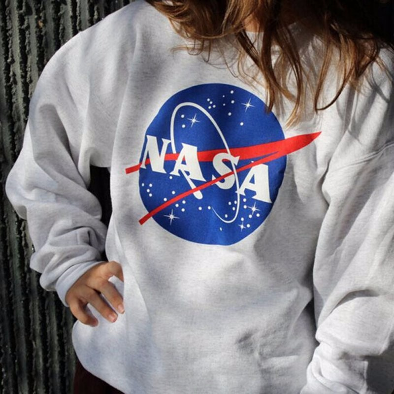 New graphic LOGO space galaxy starry space round neck long-sleeved sweatshirts