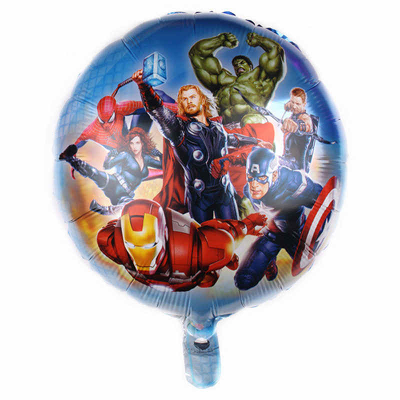 XXPWJ  New 18-inch round cartoon Superman aluminum balloon Children's holiday Birthday party decoration balloon Self-sea  DD-038